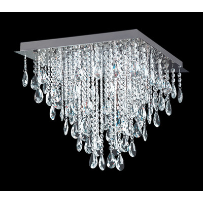 Plafon Almendra Cairel 30x30 Led Incluido Moderno 4 Luces