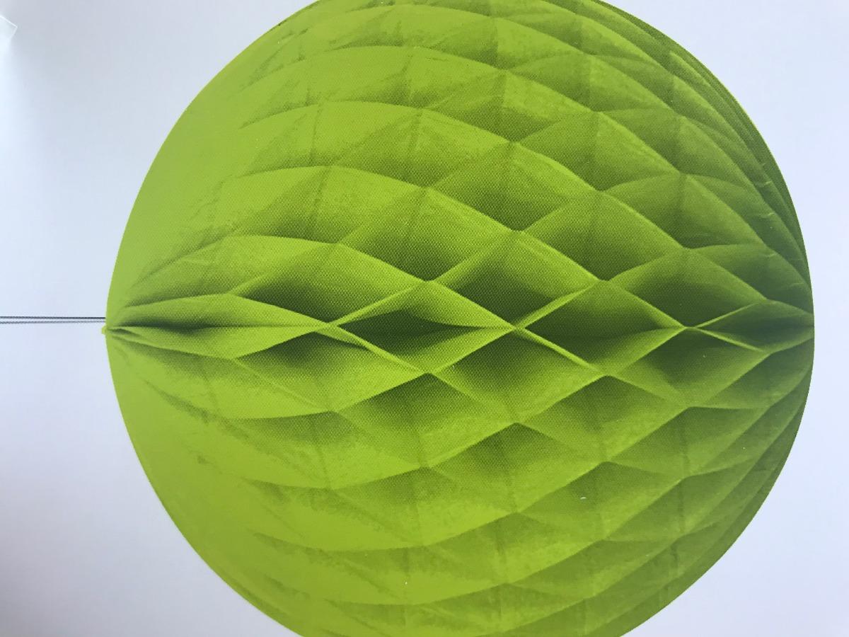 Bola de Papel nido de abeja Verde Lima