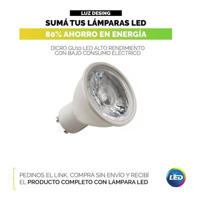 Aplique 3 Luces Blanco Madera Apto Led Gu10 U1003 Mks