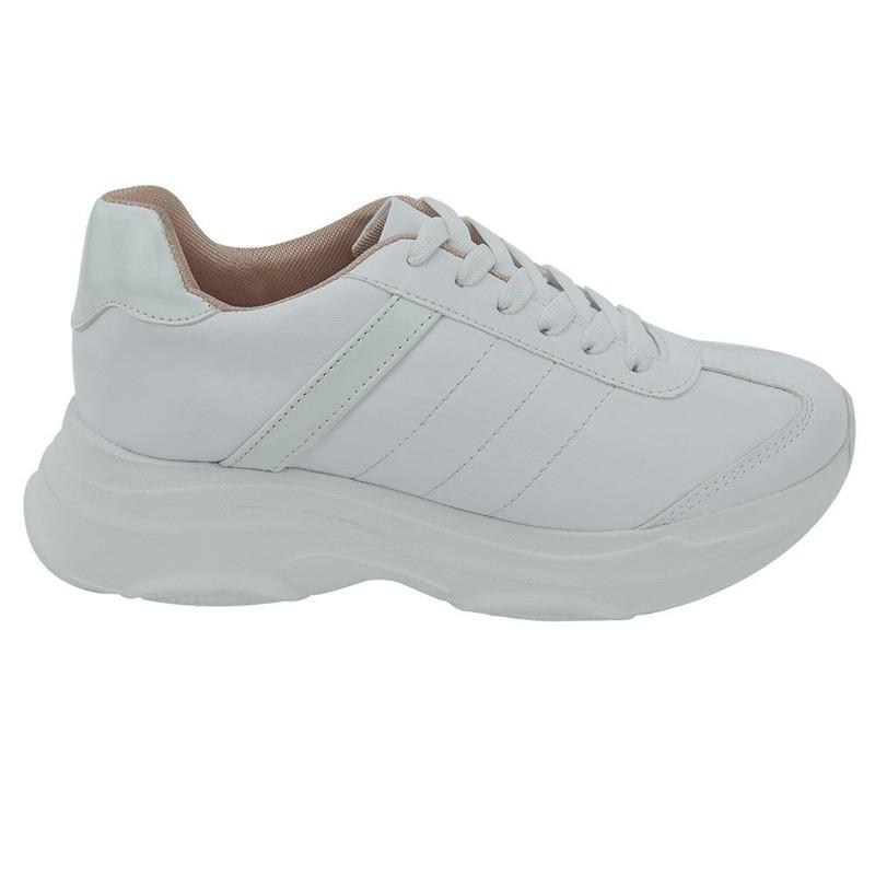 Sneakers Blancos Con Agujetas 020284