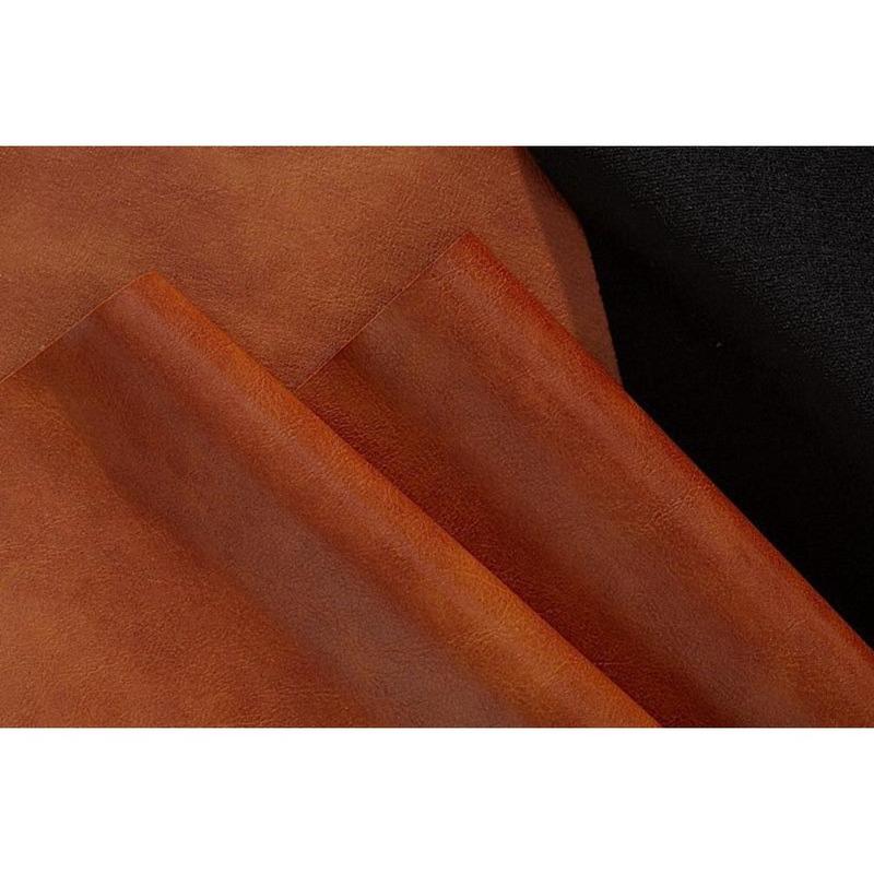 Tecido couro sintético fit modena marrom cleveland