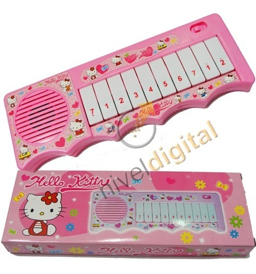 Piano Musical Princesas Hello Kitty Melodias Notas En Caja
