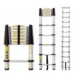 Escalera Telescópica 12 Escalones Aluminio Laury