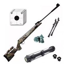 Rifle Aire Comprimido Fox Nitro Magnum Camo + Mira Zoom Bipo