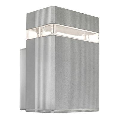 Unidireccional Aluminio Gris Gu10 Apto Led Moderno