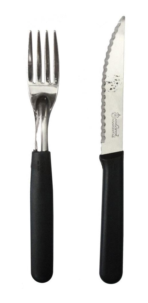 96 Cubiertos Cuchillo Tenedor Carol Inox Pvc Segunda Selecci