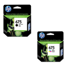 Combo Cartuchos Hp 675 Negro+color Impresoras 4000 4400 4575