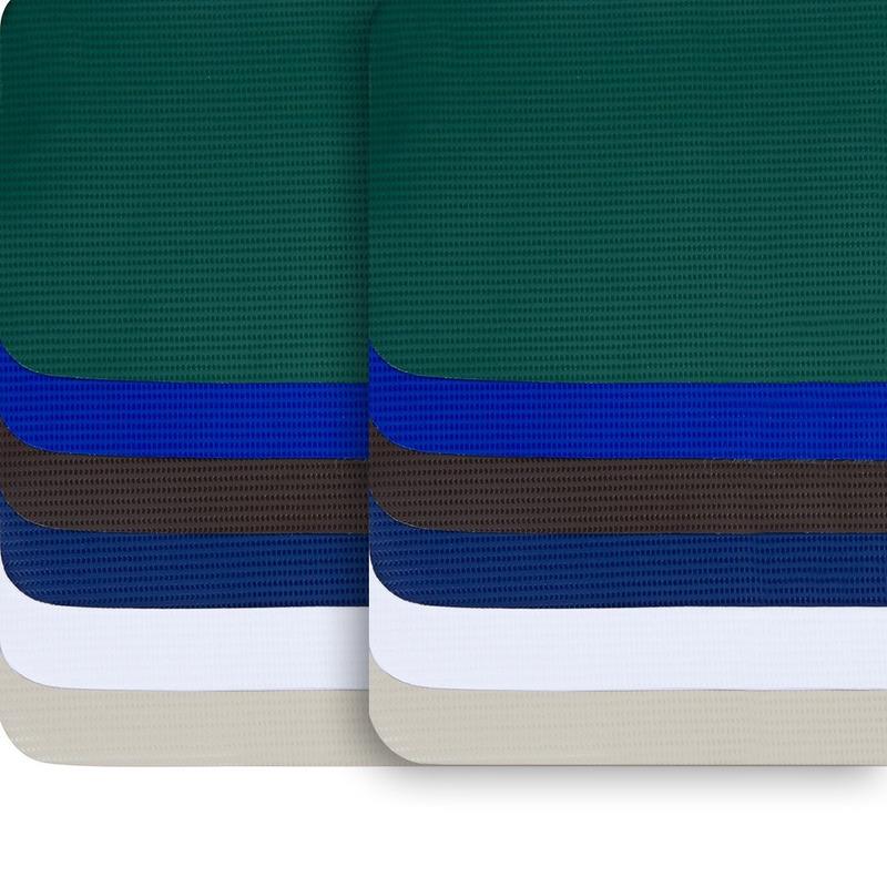 Lona para toldo Beti-Super verde militar avesso da mesma cor (540gr) larg. 1,40 m