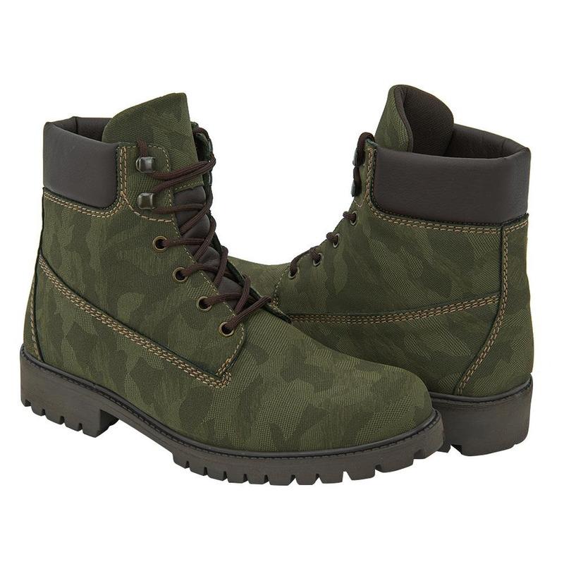 Bota Verde Estampado Militar 017677