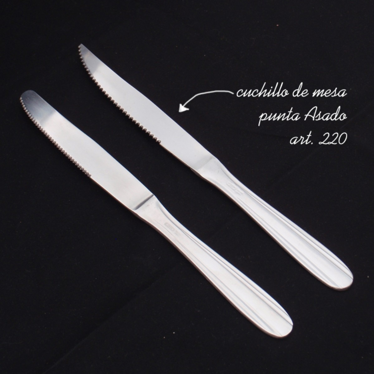 Cuchillos de mesa punta asado acero inoxidable 10 docenas...