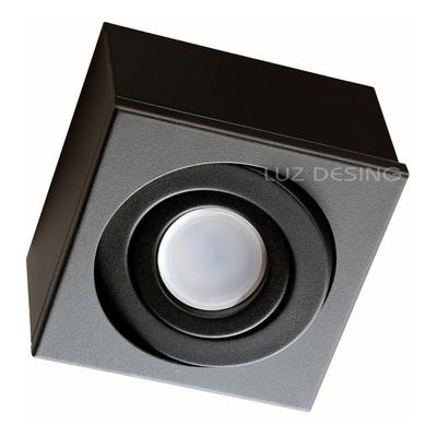 Plafon 1 Luz Cardanico Negro Apto Led Gu10 Dicro Gam 1414