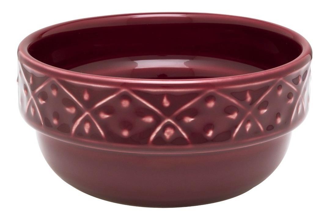 Set 6 Bowls Compoteras Cazuela Ceramica Oxford Corvina Bordo