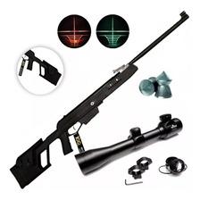 Rifle Aire Comprimido Apolo 1000 Nitro Potenciado + Mira Luz