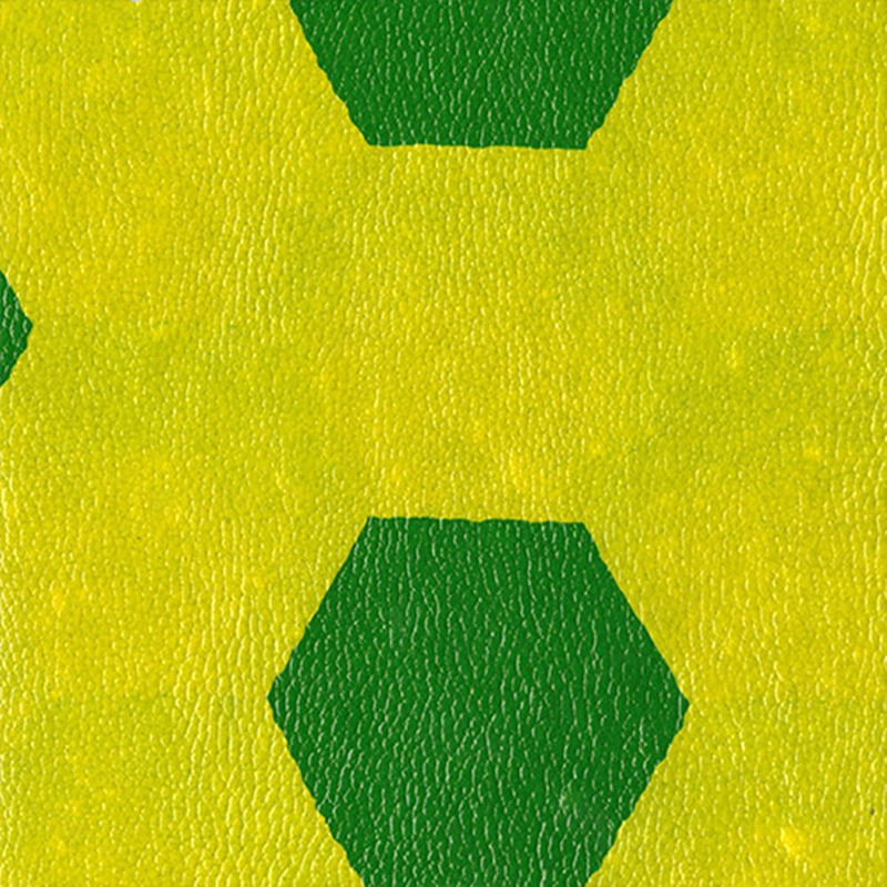 Tecido corino Alkobag Soccer verde e amarelo Larg. 1,40 m
