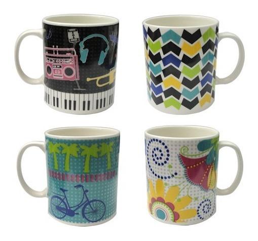 Set X 2 Tazas Jarro Mug Porcelana Corona Decorado Modelos