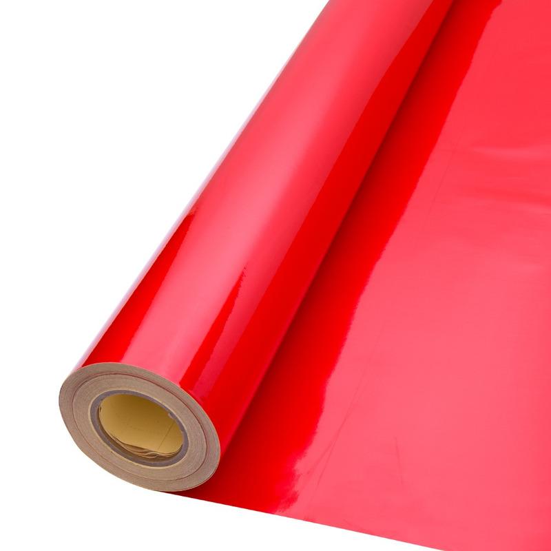 Vinil adesivo refletivo vermelho (grau comercial) larg. 1,22 m