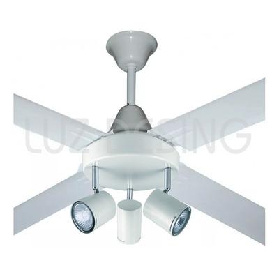 Ventilador De Techo Blanco Garantía + Aplique 3 Luces Tg