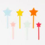 Estrellas de acrilico para torta o cupcake (12)