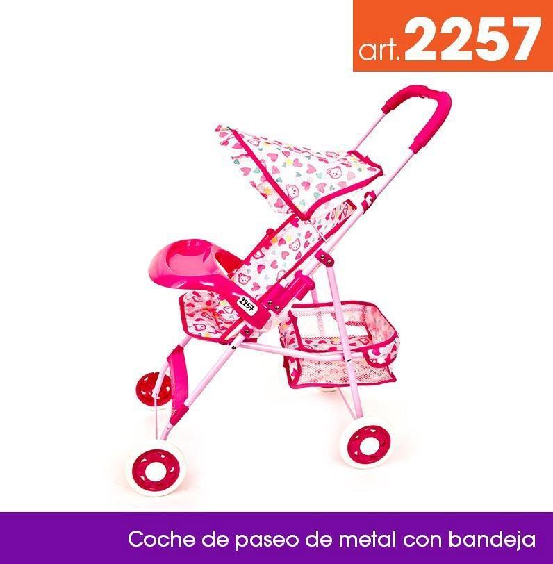 Cochecito de Paseo de Metal con Bandeja 2257 Lyon Toys