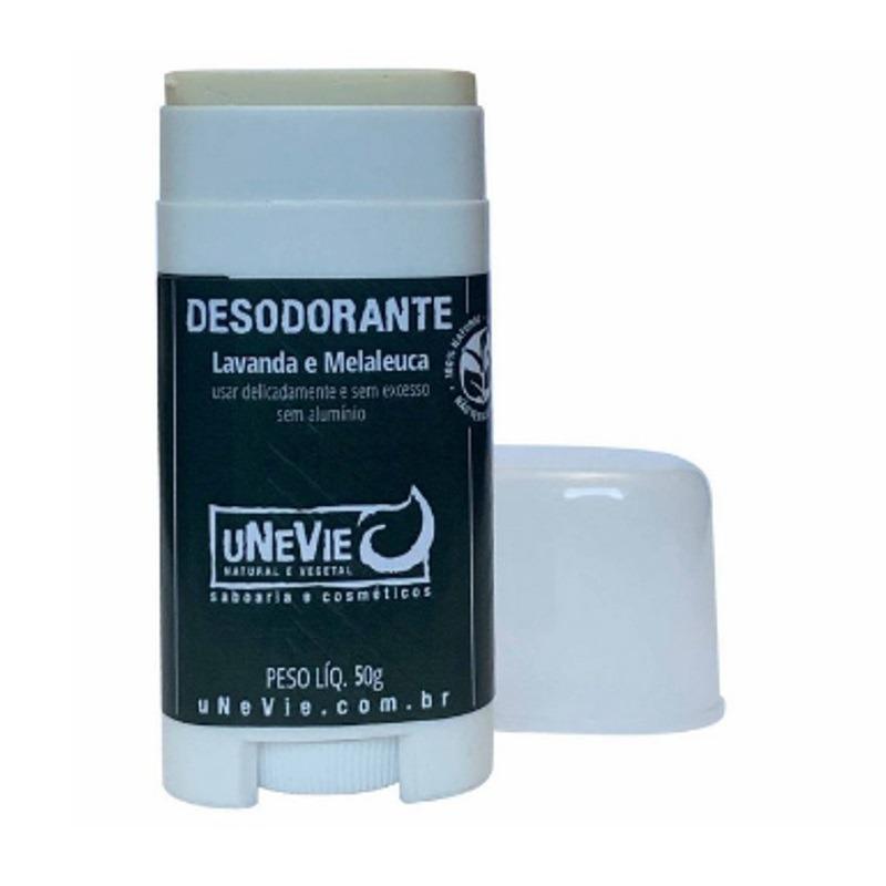 Desodorante Vegano Lavanda e Melaleuca S/Aluminio 50g uNeVie
