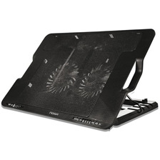 Base De Notebook 2 Cooler Led Noga 11 A 19 Pulgadas Ng-s530