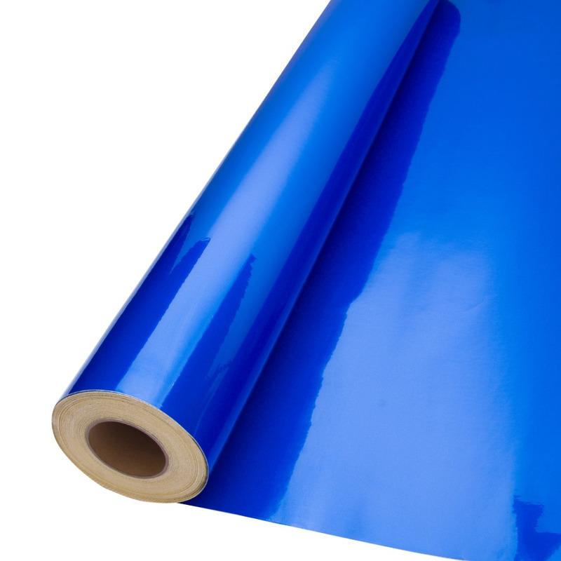 Vinil adesivo refletivo azul (grau comercial) larg. 1,24 m