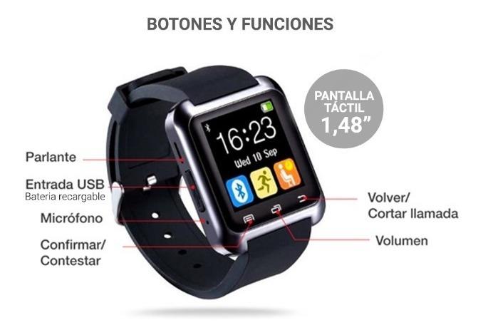Smartwatch Reloj Inteligente Bluetooth Celulares Android