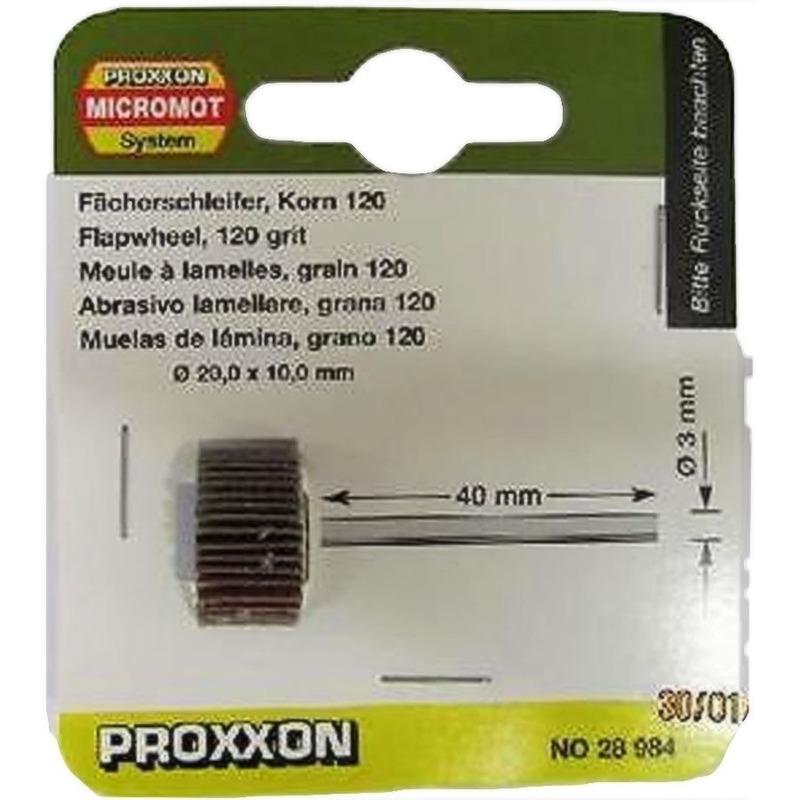 Disco de lixa em flap 20 x 10 mm - Proxxon - 28984