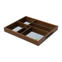 Bandeja de Madeira Organizadora Com Espelho Naturals -WoodArt 31011729