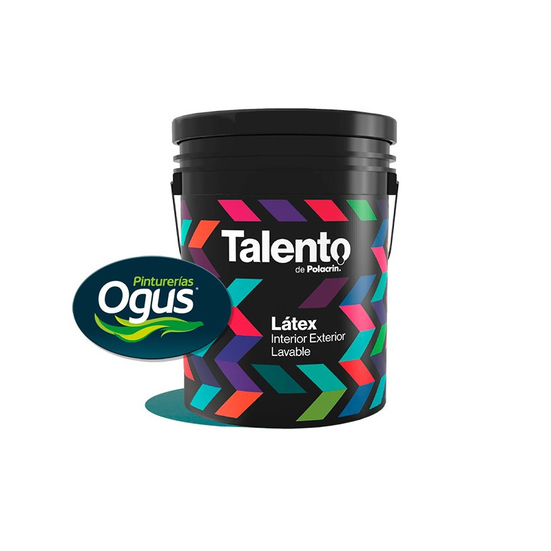 Pintura Latex Talento Interior Exterior Lavable X20 Lt Ogus