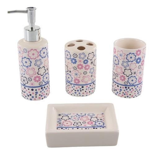 hermosas fotos de diseño de baño Set X 4 Para Bao Hermoso Diseo Dispenser Jabonera Cepillo