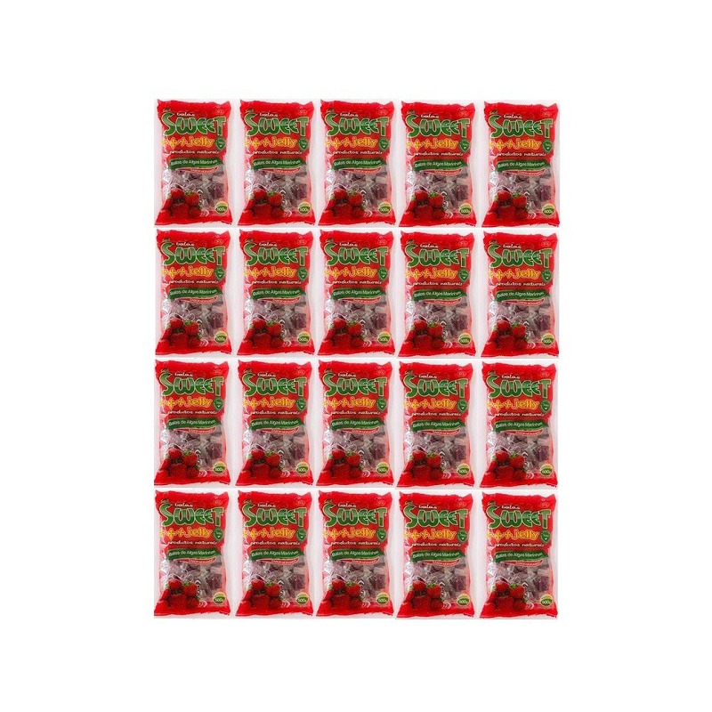 Balas de Algas Sweet Jelly Sabor Morango - Kit 20 x 500g