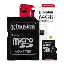 Memoria Microsd Kingston Micro Sd Xc 64gb Clase 10 80mb/s