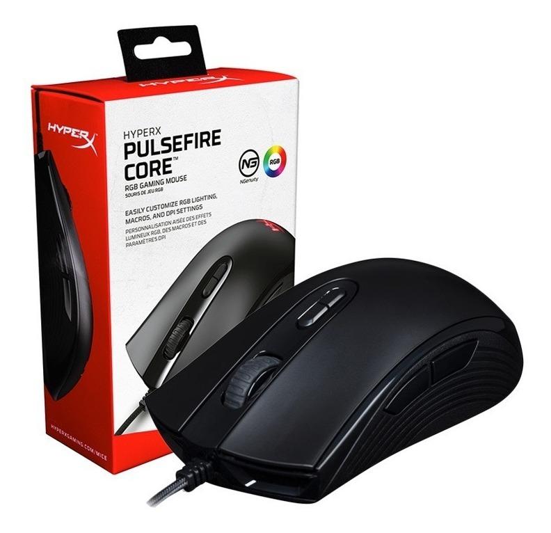 Mouse Gamer Hyperx Pulsefire Core Led Rgb 6200dpi Gaming Ambidiestro Gtia Oficial