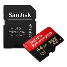 Memoria Microsd Sandisk 64gb Extreme 100mb/s Pro 4k Clase 10