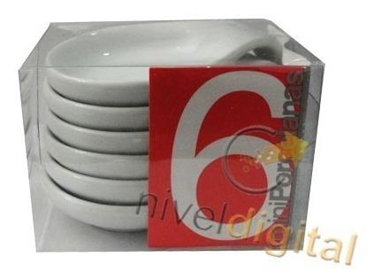 Set X 6 Cazuelitas  Cazuela Porcelana  Degustacion Salsera