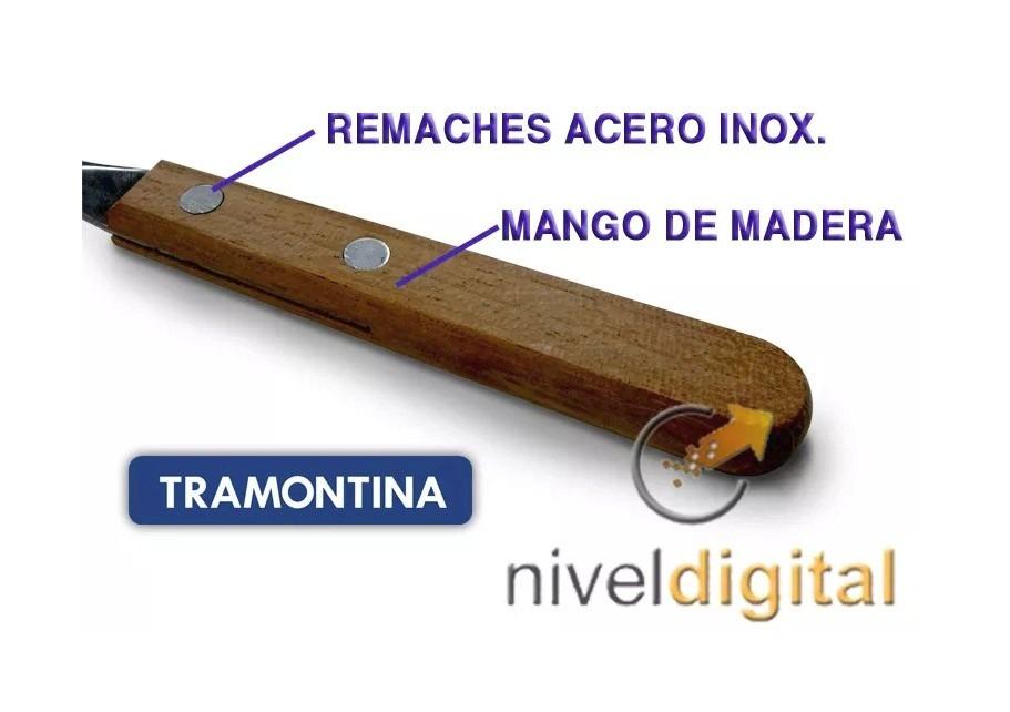 24 Cubiertos Tramontina Mango Madera Original Dynamic
