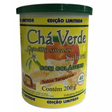 Cha Verde com Colageno Sabor Tangerina 200g Mosteiro Devakan