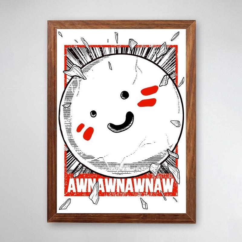 PÔSTER COM MOLDURA - AWNAWANWAN ROCK