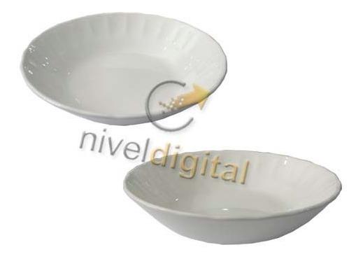 Set De 4 Platos Hondos Porcelana Corona Caribe Fino Diseño