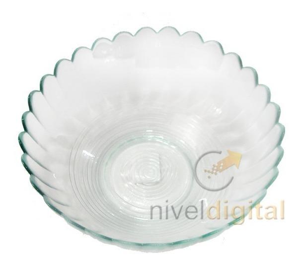 Bowl Ensaladera 0 90 Lts Vidrio Transparente Fino Diseño