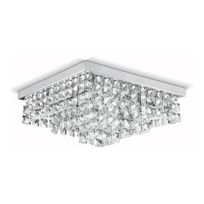 Lampara Plafon Lluvia Cristal 5 Luces Led Piazza Pal