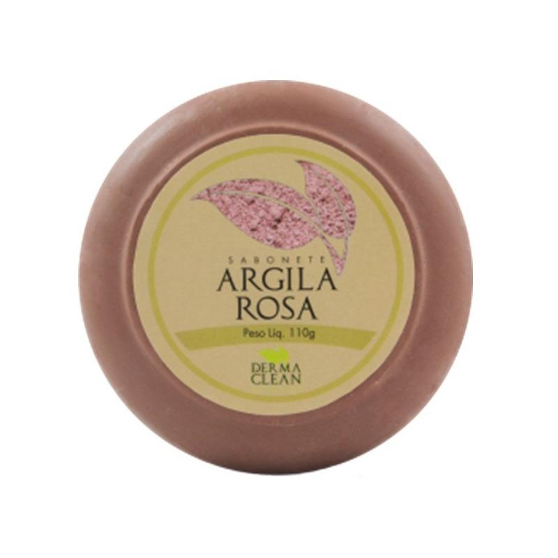 Sabonete Redondo de Argila Rosa - 110g - DermaClean