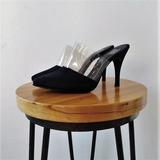 Stiletto 831  Gamuza Negro