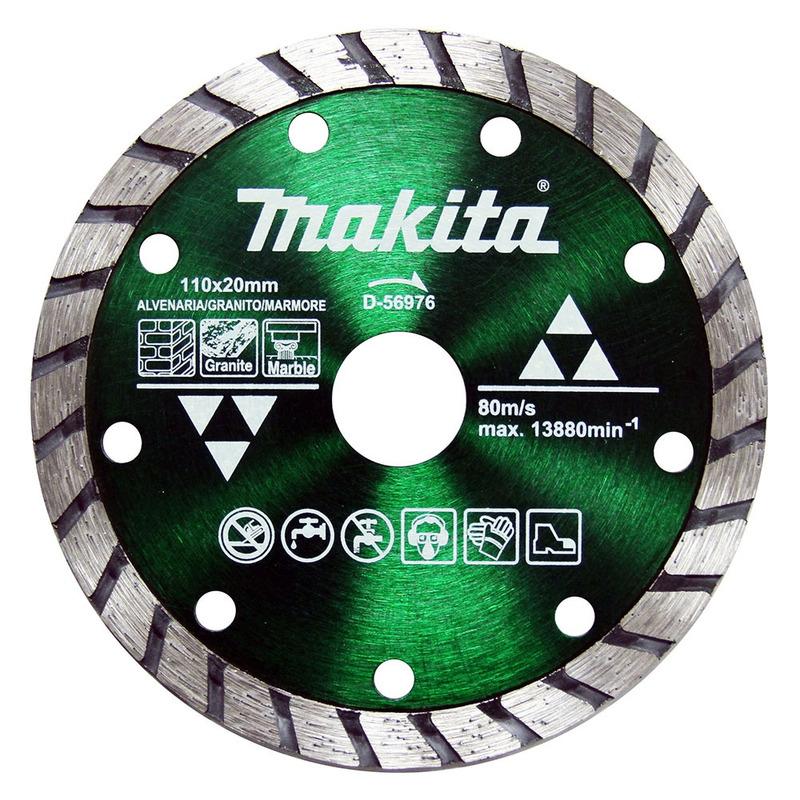 Disco de Corte Diamantado MAXTURBO 110 x 20mm - D-56976 - Makita