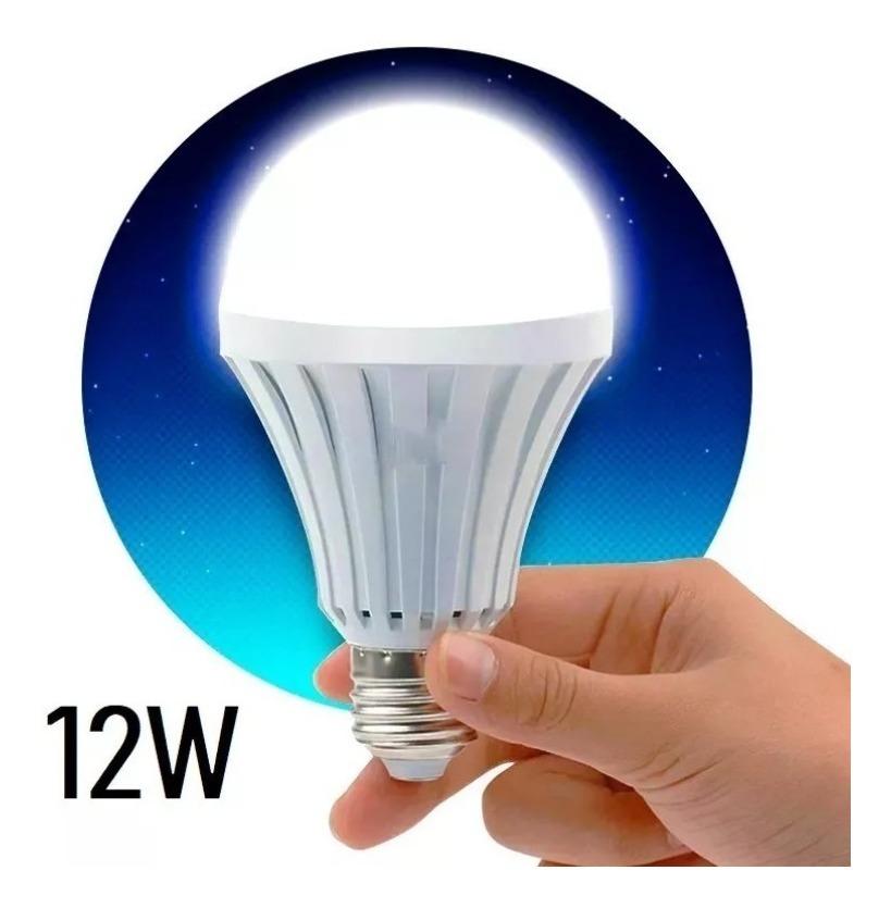 Bombilla Luz De Emergencia Recargable Led Foco 12w