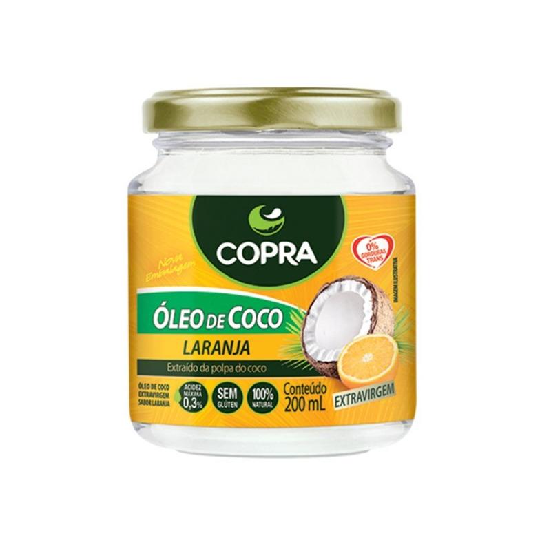 Oleo de Coco Extra Virgem - Sabor Laranja -  200ml - Copra