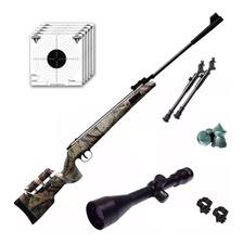 Rifle Aire Comprimido Fox Nitro Magnum Camo Mira 4x40 Bipode