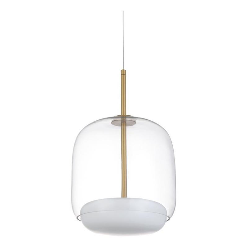 Colgante Kokali Vidrio Led 12w Dorado Deco Moderno Lk
