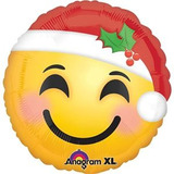 globo emoji navidad 45cm desinflado apto helio